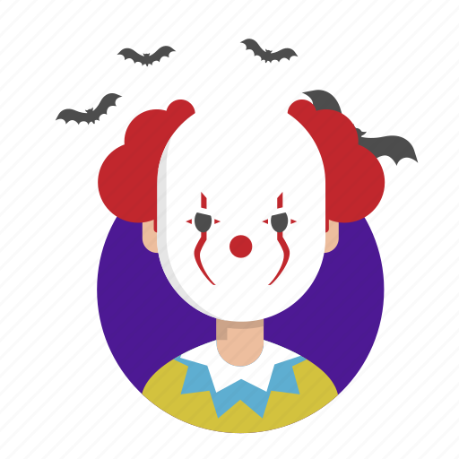 clown, fear, halloween, scream, terror icon