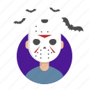 halloween, jason, killer, mask icon