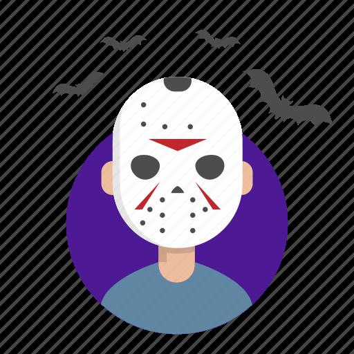 halloween, jason, killer, mask icon