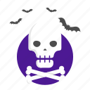 bones, death, halloween, pirates, skull icon