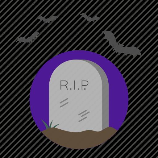 cemetery, death, halloween, tomb icon