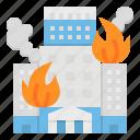 alarm, alert, buildings, fire, house icon