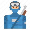 avatar, military, people, police, swat icon
