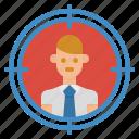 circular, gun, shooting, sniper, target icon