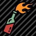 cocktail, fire, incendiary, molotov, terrorism icon