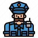 guard, occupation, police, policemen, security icon