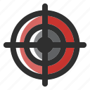 accurate, rifle, shot, sniper, target, terrorism icon