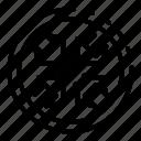 bonus, bug, circle, code, cyberspace, data, wrench icon