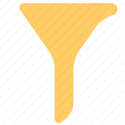 document, filter, funnel, office, select icon