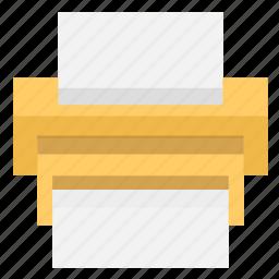 document, office, print, printer, printing icon