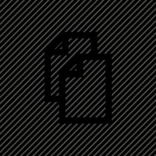 copy, duplicate, paste, text edit icon