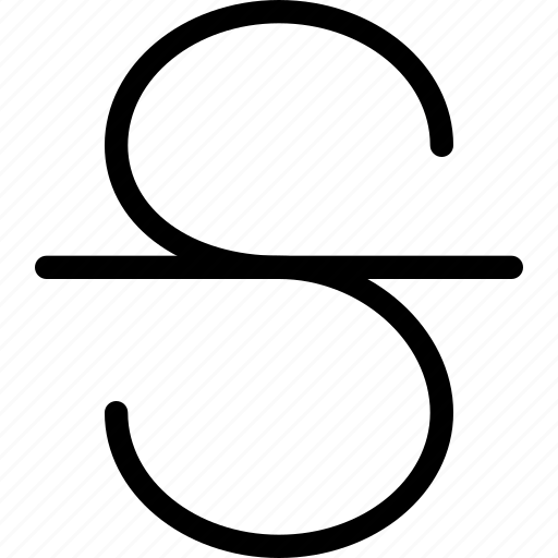 editor, format, strike, striketrough, text icon