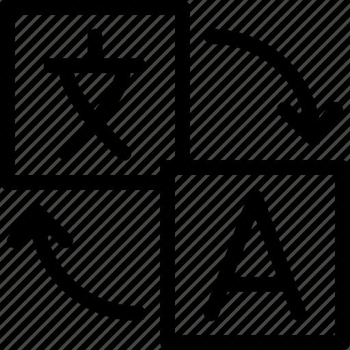editor, language, text, translate, translation icon