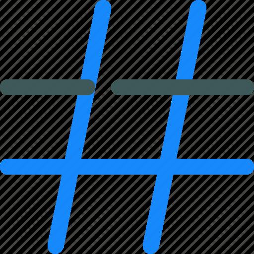 hash, hashtag, tag, text icon