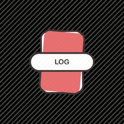 blog, log, log file type, log icon, logging, writing icon