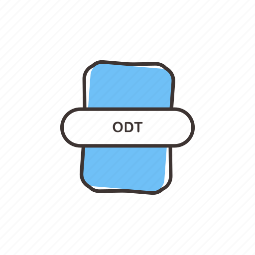 data, document, odt, odt file extension, odt icon, opendocument icon
