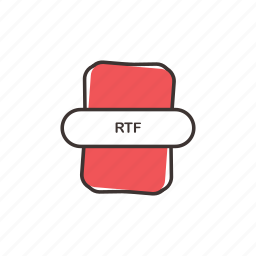 office, rich text, rich text format, rtf, rtf file, rtf icon icon