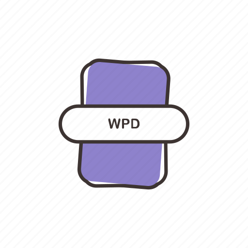 document, sheet, wordperfect, wpd, wpd icon icon
