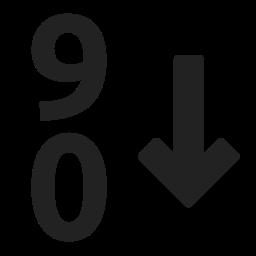 descending, filter, sort, sorting icon