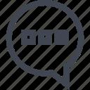 bubble, message, talk, text icon