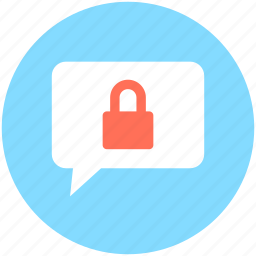 chat locked, chat privacy, confidential chat, private chat, safe dialogue icon