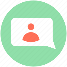 chatting, online chatting, snapchat, video conversation, video message icon