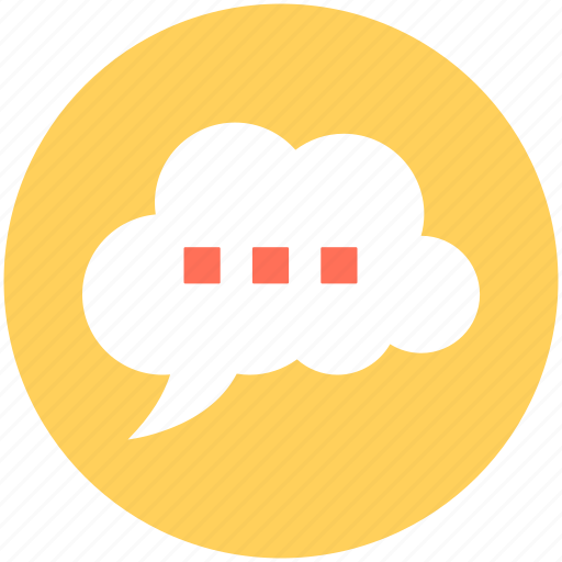 chat, online chatting, speech bubble, thinking, thought bubble icon