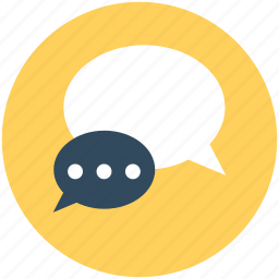 chat bubbles, chatting, communication, speech bubbles, talk icon