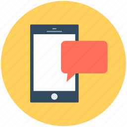 message, mobile, mobile chatting, mobile massage, speech bubble icon