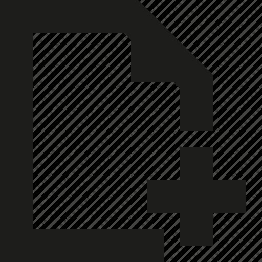 add, paper icon