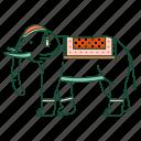 animal, asia, elephant, thai elephant, thailand, traditional, transport icon
