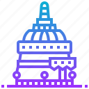 building, doi, landmark, suthep, thailand, wat icon