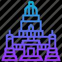 arun, building, landmark, thailand, wat icon