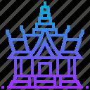 building, landmark, phrakaew, thailand, wat icon