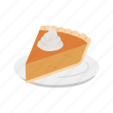 baked pie, pie, slice pie, thanksgiving icon