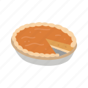 pie, pumpkin pie, thanksgiving, thanksgiving pie icon