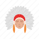 chief, headdress, indian, native american, thanksgiving icon