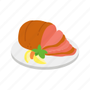 cooked ham, ham, meat, pork, thanksgiving icon