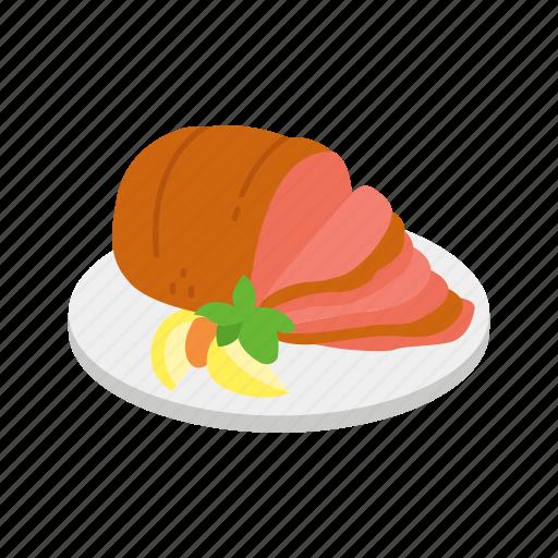cooked ham, ham, meat, pork, thanksgiving icon