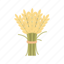 bundle of wheat, flour, thanksgiving, wheat icon