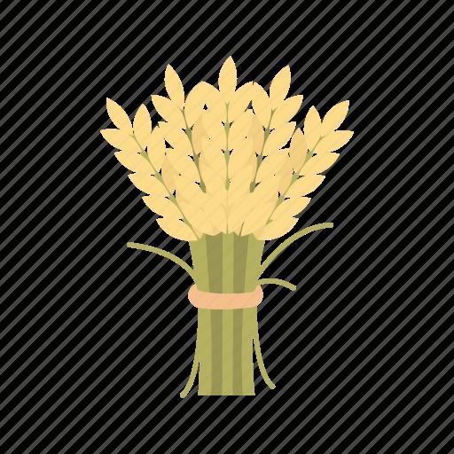 bundle of wheat, flour, thanksgiving, wheat icon
