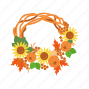 fall wreath, festive wreath, thanksgiving, wreath icon