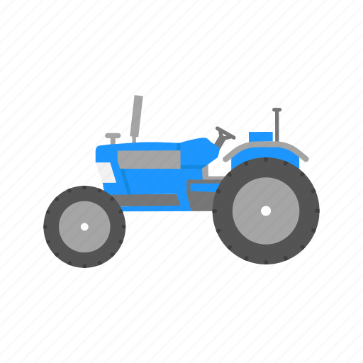 crops, farming, old tractor, tractor icon