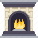 centrally heated, classical, firelamp, fireplace, vintage