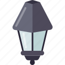 lamp post lamps, night lights, road decoration, road lightening, roadside lamps icon