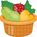 basket, fresh fruits, fruits, fruits basket, natural food