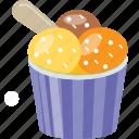 dessert, ice cream, ice cream cup, mix ice cream, sundae icon
