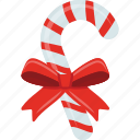 candy cane, candy stick, christmas candy, striped candy, wrapped candy icon