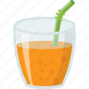 fresh juice, fruit juice, orange drink, orange juice, summer drink icon