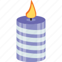 birthday decoration, burning candle, candle, candle wax, candlestick icon